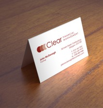 2 Panel Folding Business Cards